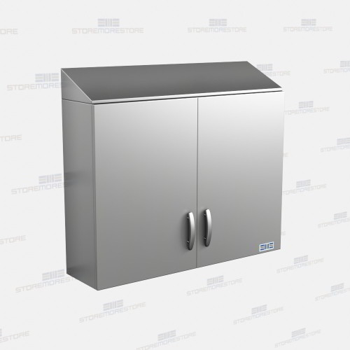 Sloped Top Stainless Upper Cabinets Similar To Pedigo P 8636