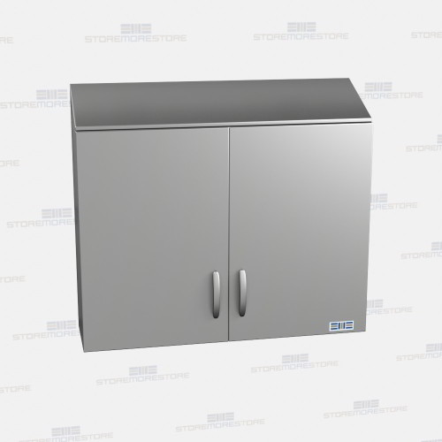 Metal Wall Cabinets sloped top stainless upper cabinets | overhead lab storage