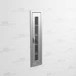 "Tall Stainless Glass Door Cabinet (1' 0""W x 1' 6""D x 5' 0""H), #SMS-58-SH121863R"