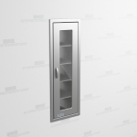"Recessed Mounted Stainless Steel Cabinet (1' 6""W x 2' 0""D x 5' 0""H), #SMS-58-SH182463R"