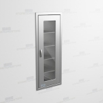 "Stainless Steel Storage Cabinets In Wall (1' 9""W x 2' 0""D x 5' 0""H), #SMS-58-SH212463R"