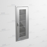 "Stainless Steel Tall Wall Cabinets with Glass Door (2' 0""W x 2' 0""D x 5' 0""H), #SMS-58-SH242463R"