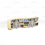 Creative Library Shelving Rows School Designs Counter High Wood Bookcases Mobile