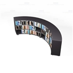 Curved Melamine Bookshelves School Library Unit Counter High Mobile Book Storage