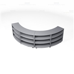 Convex Circular Shelving School Library Bookcases Book Storage Creative Design