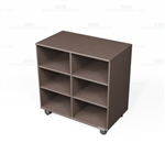 Mobile Bookcase Laminate Shelving Rolling Library Storage Book Shelf Carts Rack