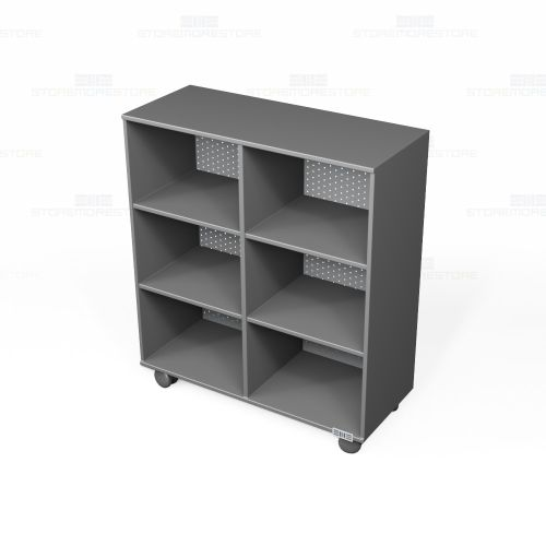 Rolling Bookcase Melamine Shelving 3 6 W X 1 D 4 H Sms 59 Dfts 42 4818s S T Mob
