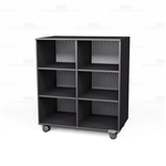 Rolling Melamine Bookcases Mobile Shelves on Wheels Library Book Storage Racks