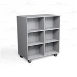 Mobile Melamine Bookcases Rolling Library Shelves Storage Book Shelving Carts
