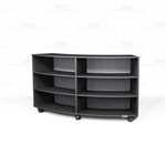 Circular Rolling Bookcases Melamine Curved Shelves Library Storage Book Shelving