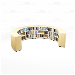 Rounded Library Shelving Rows School Storage Books Rolling Counter Bookcases