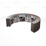 Semi-Circle Library Shelves Storage Design Schools Bookcases Counter High Mobile
