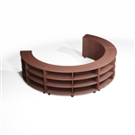 Circular Bookcase Designs Creative Library Storage Rolling Counter Bookshelves