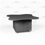 Rolling Copy Room Island Clover Top Workcounters Furniture Casework Cabinets