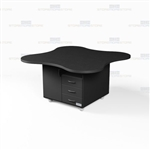 Clover Shape Mobile Counter Workroom Casework Desk Rolling Furniture Counters