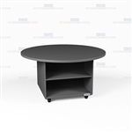 Round Mobile Work Island Counter Office Cabinets Rolling Storage Workcounters