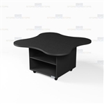 Workroom Rolling Island Counter High Cabinets Desk Mobile Storage Workcounters