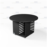 Office Work Island Casegoods Rolling Counter Desk Mobile Workcounter Furniture