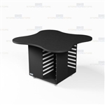 Clover Shape Copy Room Work Island Counter Storage Mobile Workcounter Furniture