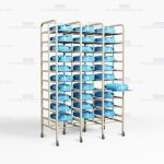 SPD Surgical Instrument Racks Storage Shelves Kits Eliminate Tears OR Trays