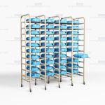 Surgical Instrument Tray Racks SPD Storage Shelves Eliminate Handling OR Packs