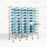Surgical Kit Storage Racks SPD Instrument Packs OR Infection Control Shelves