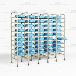 Surgical Packs Storage Racks Instrument Kits OR Shelf Trays Infection Control
