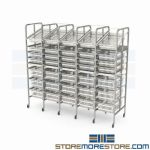Supply Storage Drawer Bin Shelving Rolling Rack