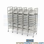Two-Bin Storage Bins Medical Product Shelves Racks