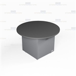 Round Shape Movable Work Island Office Counters Rolling Casework Furniture