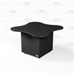 Clover Shape Office Work Counter Island Case Goods Rolling Casework Millwork