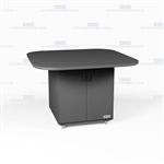 Square Copy Room Work Island Rolling Counter Desk Office Casework Cabinets