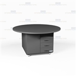Round Office Work Island Counter Mobile Cabinets Rolling Storage Workcounters