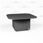 Mobile Island Millwork Counter Office Casegoods Rolling Storage Workcounters