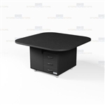 Square Office Mobile Work Island Rolling Counters Copy Room Storage Cabinets