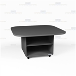 Square Top Movable Work Island Office Counter Desk Rolling Casework Furniture