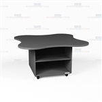 Clover Shape Rolling Island Millwork Counter Desk Office Casework Workcounters