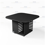 Square Mobile Work Island Rolling Office Counter Copy Workroom Furniture Storage