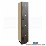 Four-Tier Wood Laminate Locker