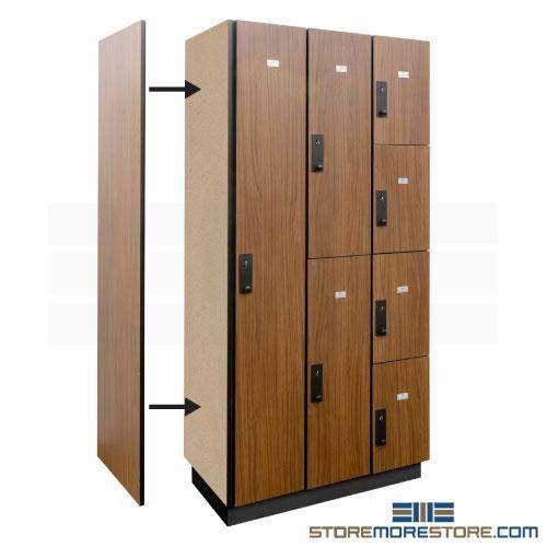 Single Locker Depth End Panel Laminate Finish Side Panels For Row Ends Wood Storage Locker Legacy Wood Lockers 10 51 16 Keyless Locker Plastic Laminate Clad Lockers 10 51 23
