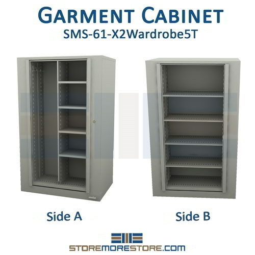 Alternative Views  sc 1 st  StoreMoreStore & X2 Rotating Wardrobe Storage Cabinet Storing Garments u0026 Supplies ...