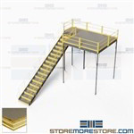 Warehouse Mezzanine Platforms Industrial Storage Floorspace Two-Story Deck IBC