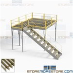 Self-Supported Mezzanine Platforms Bar Grating Decks Prefab Freestanding Steel