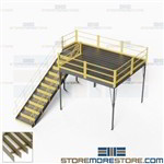 Freestanding Mezzanine Platforms Additional Storage Space Warehouse Two-Story