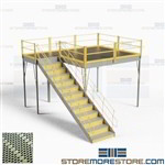 Industrial Platform Mezzanines Storage Warehouse Floorspace Two-Story Storage