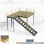 Warehouse Mezzanine Storage Second Story Deck Freestanding 10'x10' Industrial