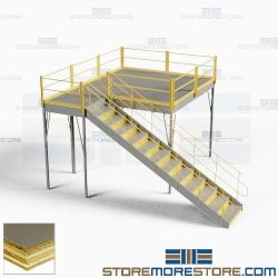 Freestanding Storage Platforms Mezzanine Warehouse Post Beam Prefab Floorspace