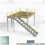 Industrial Mezzanine Lofts Freestanding Steel Platforms Stairs Handrails Decking