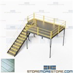 Self-Supported Platform Mezzanines Prefab Warehouse Storage Second Level IBC