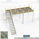 Pre-Engineered Mezzanines Factory Direct Prefab Platforms Stairs Handrails Decks